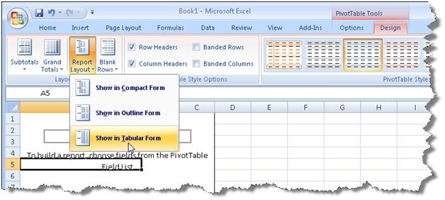 Prologika | Excel PivotTable Tabular Reports
